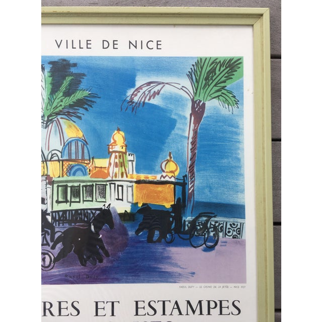 Vintage 1950s French Exhibition Poster by Raoul Dufy For Sale In Tampa - Image 6 of 10