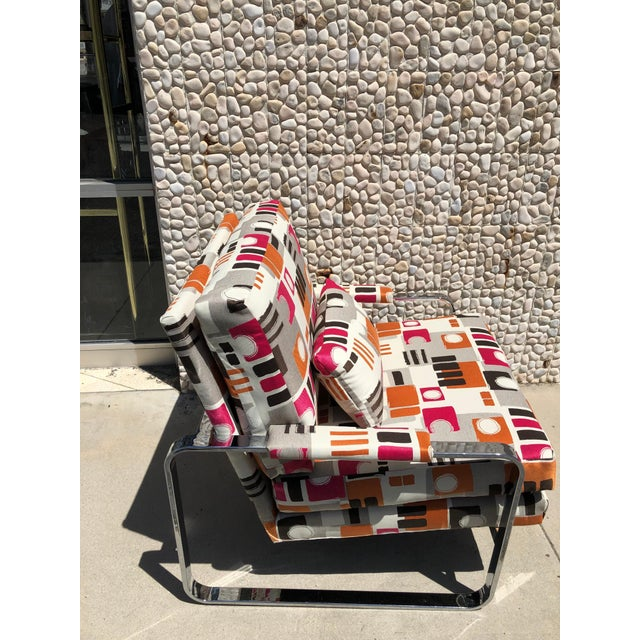 Modern 1970s Modern Chrome Club Chair For Sale - Image 3 of 9