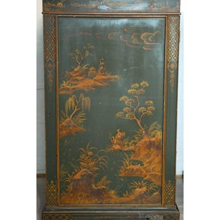 English Green Lacquer Japanned Chinoiserie Pagoda Cabinets - a Pair Preview