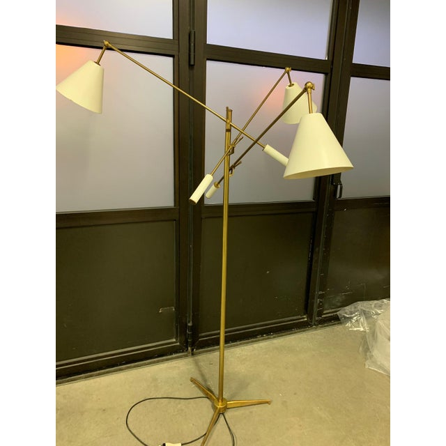 Brass 1950s Triennial Floor Lamp by Angelo Lelli for Arredoluce For Sale - Image 7 of 9