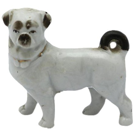 Antique English Porcelain Miniature Pug - C. 1840 - Image 1 of 3