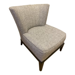 Mitchell Gold Bob Williams Upholstered Grey Tweed Accent Chair For Sale