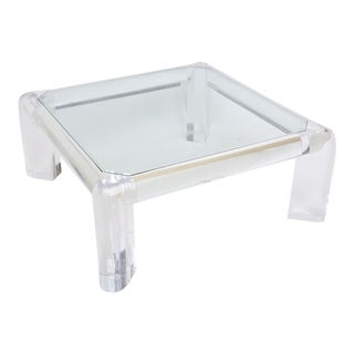 "American Modern Lucite and Glass ""Mark ii"" Low Table, Karl Springer"