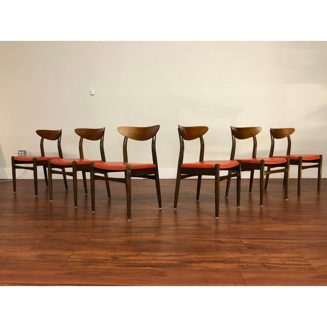 Dux Mid Century Curved Low Back Dining Chairs Set Of 6 Chairish