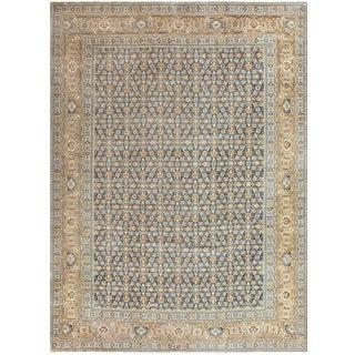 Room Size Antique Persian Tabriz Rug - 11′ × 14′7″ For Sale