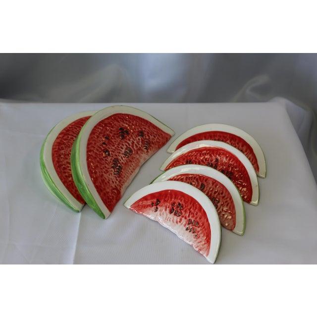 Italian Ceramic Large Slice Watermelon For Sale - Image 4 of 5