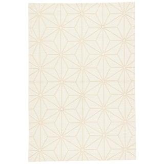 Jaipur Living Haige Indoor/ Outdoor Geometric Cream Area Rug - 5′ × 7′6″ For Sale