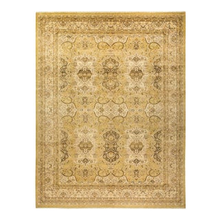 """Mogul, One-Of-A-Kind Hand-Knotted Area Rug - Gold, 10' 3"""" X 13' 4"""" For Sale"""