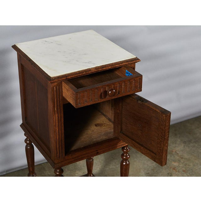 Traditional Henry II Style Night Stand For Sale - Image 3 of 8