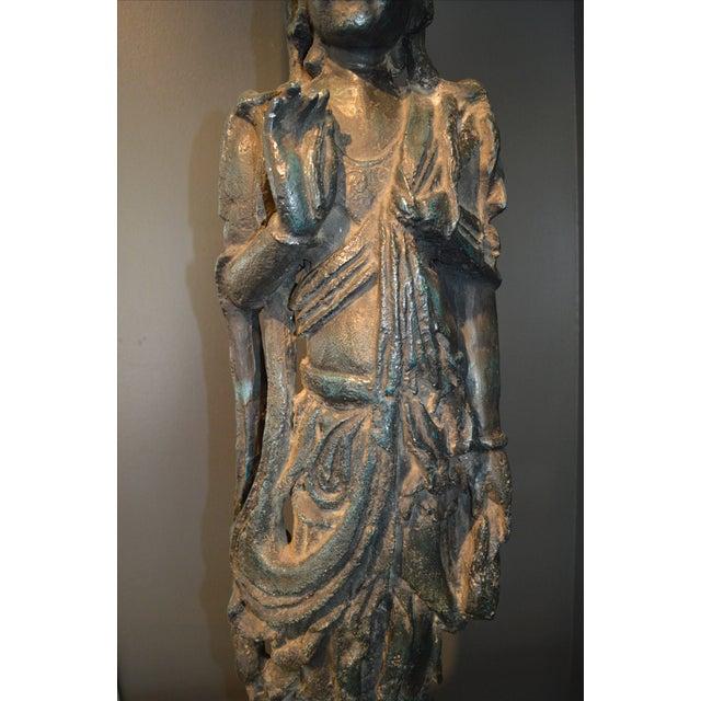 Chinese Bronze Goddess Lamp - Image 8 of 9