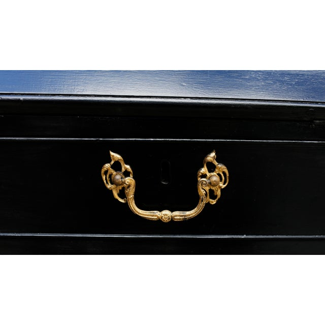 Black George III Parcel-Gilt Secretary Bookcase With Provenance For Sale - Image 8 of 13