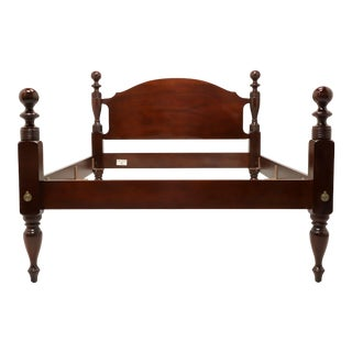 Vintage Craftique Solid Mahogany Full Size Cannonball Bed For Sale