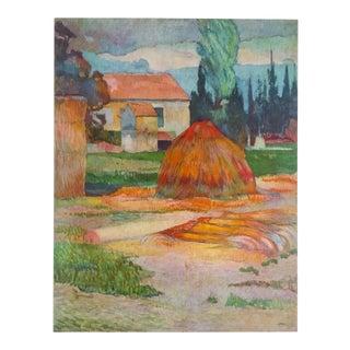 "Gauguin Original Vintage 1972 Lithograph Print ""Landscape Near Arles"", 1888"