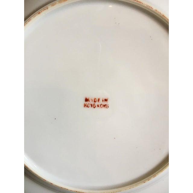 Vintage Famille Rose Medallion Decorative Plates - Set of 3 For Sale - Image 10 of 13