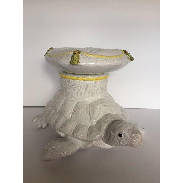 Italian Glazed Terracotta Turtle Table - Image 2 of 5