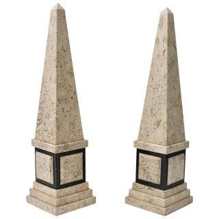 Decorative Arts Beautiful Pair Of Empire-style Malachite Obelisks Vintage Antique Sale Price Antiques