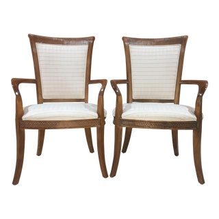 Century Furniture Arm Chairs - a Pair For Sale