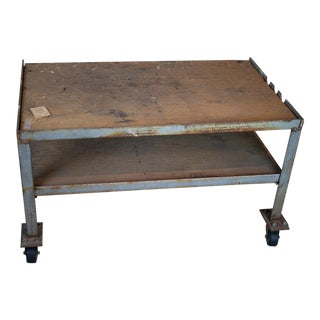 20th Century Industrial Coffee Table For Sale
