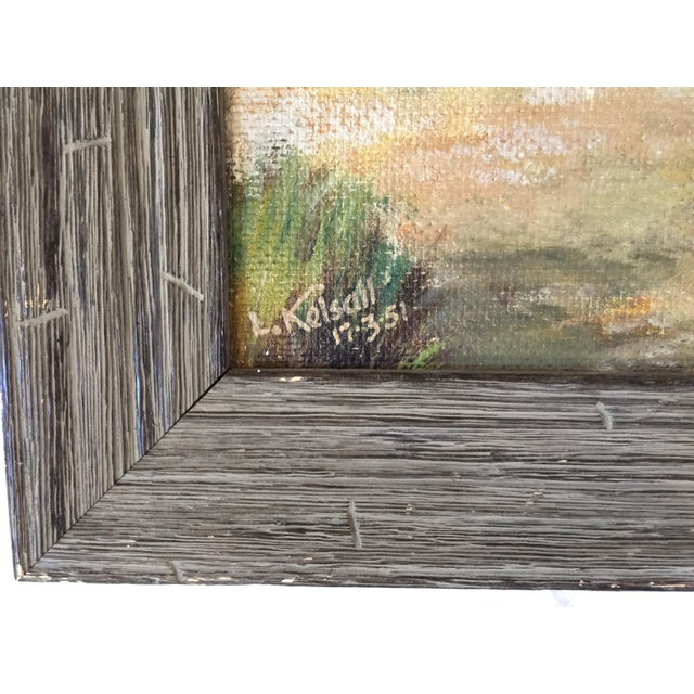 Cottage English Stone Bridge Oil Painting For Sale - Image 3 of 6