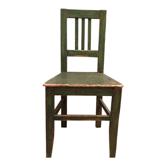 1900s Antique European Wooden Side Chair For Sale