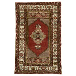 Turkish Oushak Accent Rug - 3′5″ × 5′4″ For Sale
