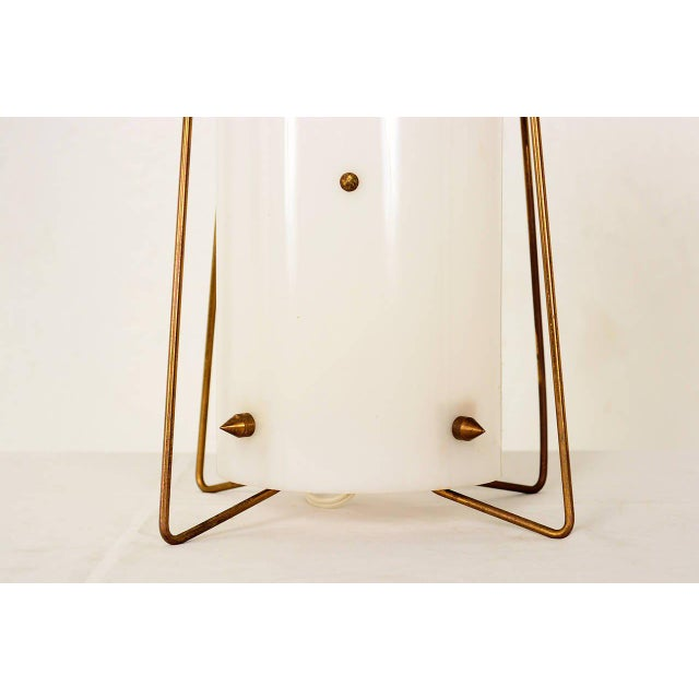 Brass & Acrylic Table Lamp For Sale - Image 4 of 7