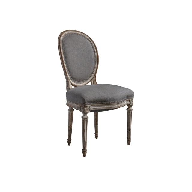 French French Louis XVI Style Hand-Carved Dining Chairs - Set of 8 For Sale - Image 3 of 5