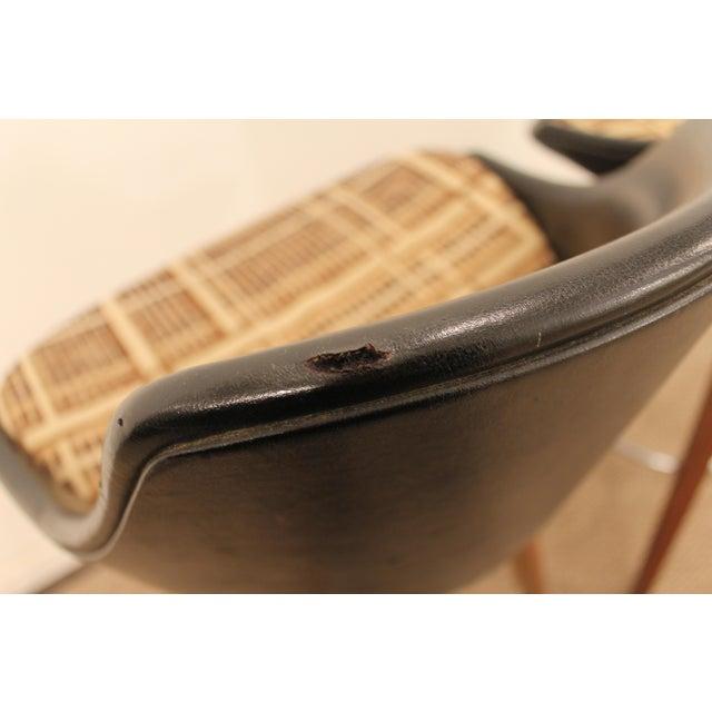 Mid-Century Chrome & Walnut Swivel Bar Stools - A Pair - Image 7 of 11