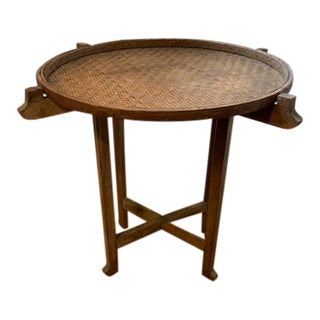 1950s Asian Flower/Grain Sorting Tray Table For Sale