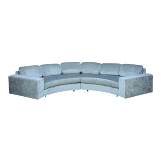 "138"" Adrian Pearsall Curved Sectional Sofa Craft Associates For Sale"
