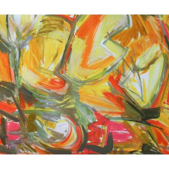 """""""Chinese New Year 3"""" Abstract Oil by Trixie Pitts - Image 3 of 3"""