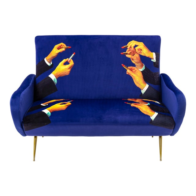 Seletti, Lipsticks Loveseat, Blue, Toiletpaper, 2018 For Sale