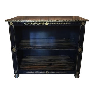 Black Painted Etagere with Gold Accents by Bob Christian, 20th Century For Sale