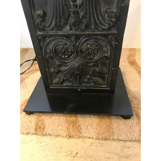 Late 19th Century Antique Iron Table Lamps - A Pair For Sale In Philadelphia - Image 6 of 13