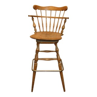 Windsor Back Bar Stool For Sale