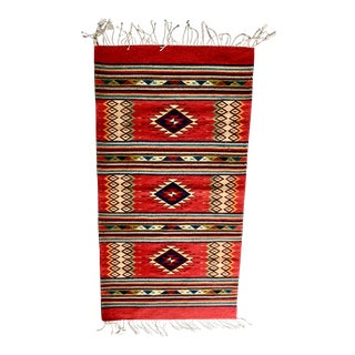 Vintage Zapotec Wool Textile For Sale