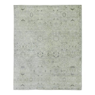 Exquisite Rugs Evie Hand Knotted Wool Gray & Beige - 6'x9' For Sale