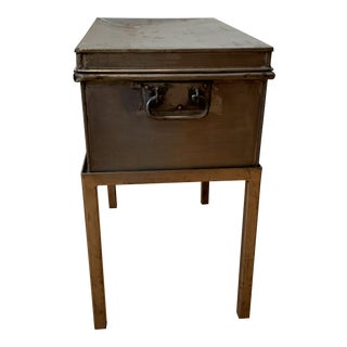 1970s Rustic Locker Side Table or Nightstand For Sale