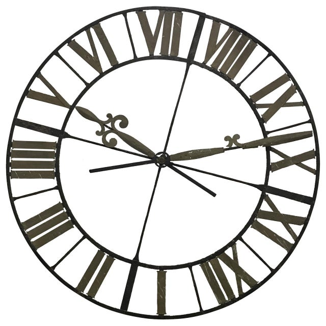 19th Century Wrought Iron Clock Face - Image 4 of 4