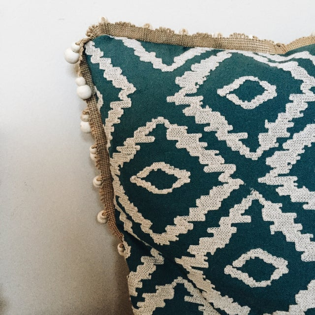 Blue Tribal Pillows - A Pair - Image 5 of 6
