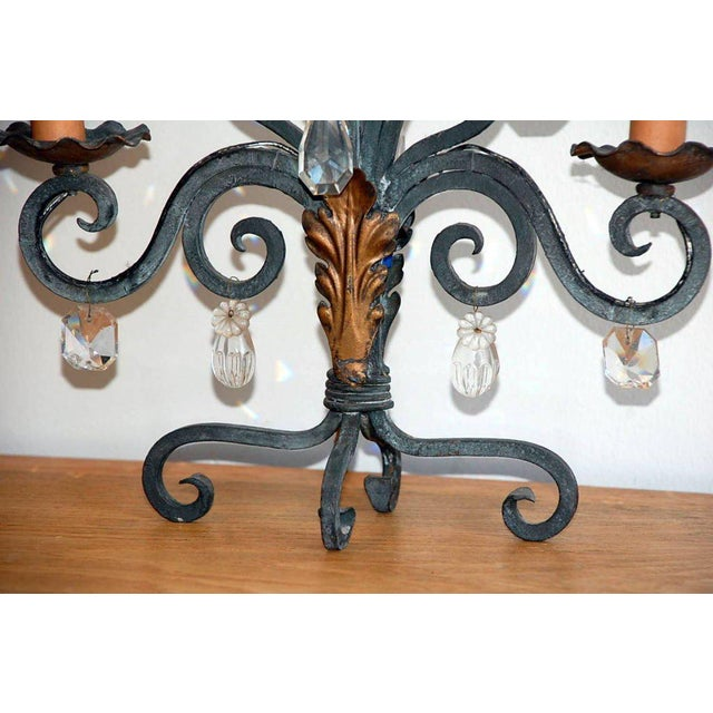 1940s Chic French Candelabra Lights - a Pair For Sale - Image 4 of 5