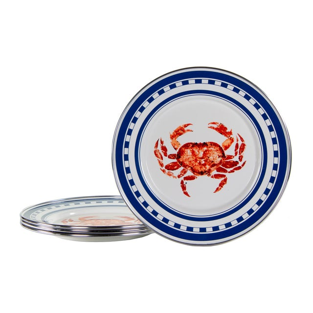 Modern Sandwich Plates Crab House - Set of 4 For Sale - Image 3 of 3