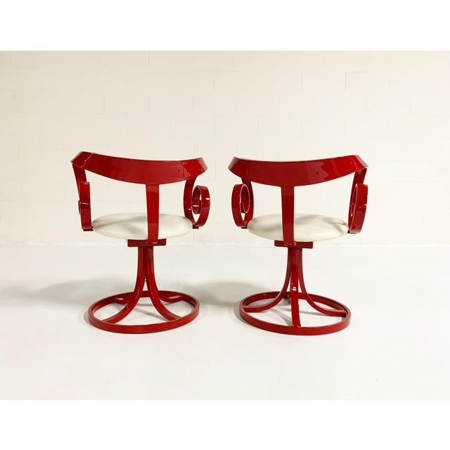Mid-Century Modern George Mulhauser Red Sultana Chairs, Pair For Sale - Image 3 of 6