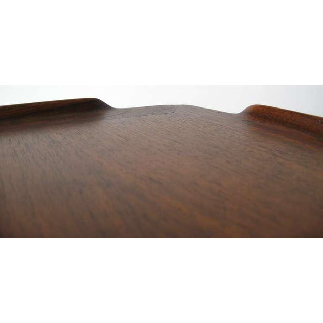 Brown Vintage Poul Jensen for Selig Mid-Century Danish Modern End Table For Sale - Image 8 of 9