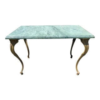 1930s Louis XV Bronze and Marble Petite Coffee Table For Sale