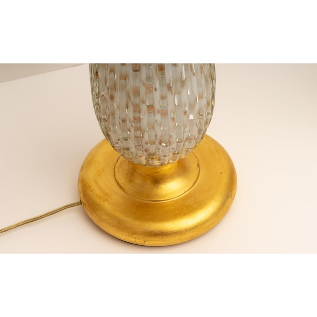 Mid-Century Modern Barovier & Toso Mid-Century Modern Gold Flecked Murano Glass Table Lamps - a Pair For Sale - Image 3 of 9