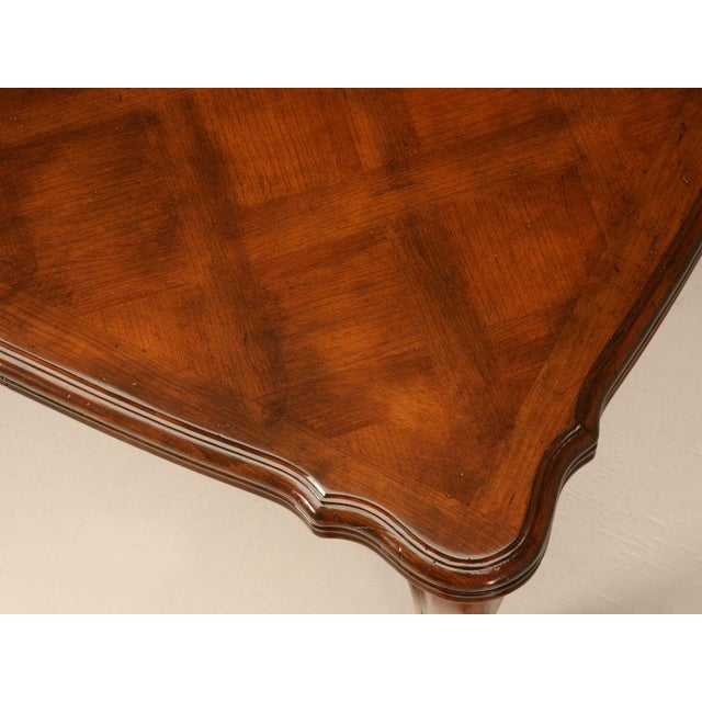 Brown Vintage French Louis XV Cherry Wood Draw Leaf Table For Sale - Image 8 of 11