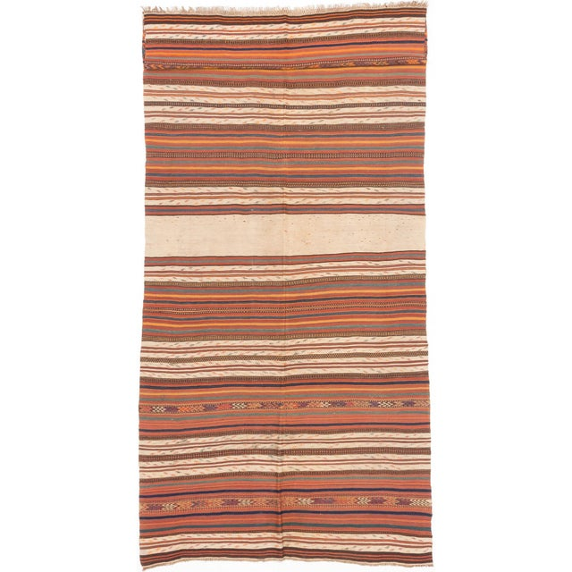 "Kashkuli Striped Kilim Rug - 5'6"" X 12'11"" - Image 1 of 2"