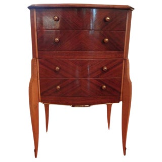 1930s Jules Leleu Style French Art Deco Commode For Sale