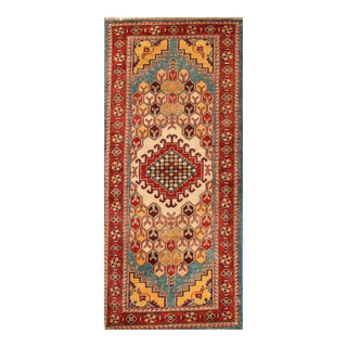 "Apadana - Transitional Red and Teal Indian Tabriz-Style Runner, 2'3"" x 5'10"""